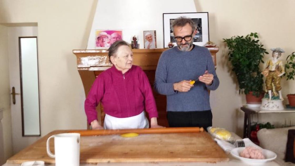 Massimo Bottura's long-time pasta chef and teacher Lidia Cristoni emphasized the importance of treating restaurant staff like family. (Photo: Massimo Bottura - Osteria Francescana Facebook page.)