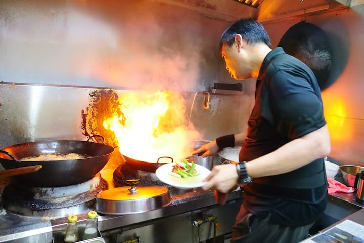 Desmond Chia continues his father's tradition of being the only cook in the kitchen.