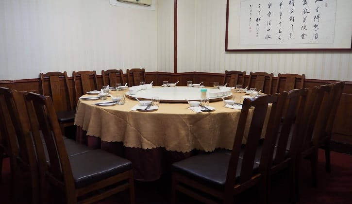 The simple yet cosy dining room of Peng Family.