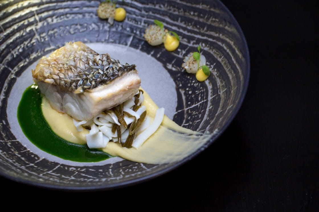 Turbot  Cream of Jerusalem artichokes, Fish sauce and Crab meat. (Credit: Restaurant 360 Dubrovnik)