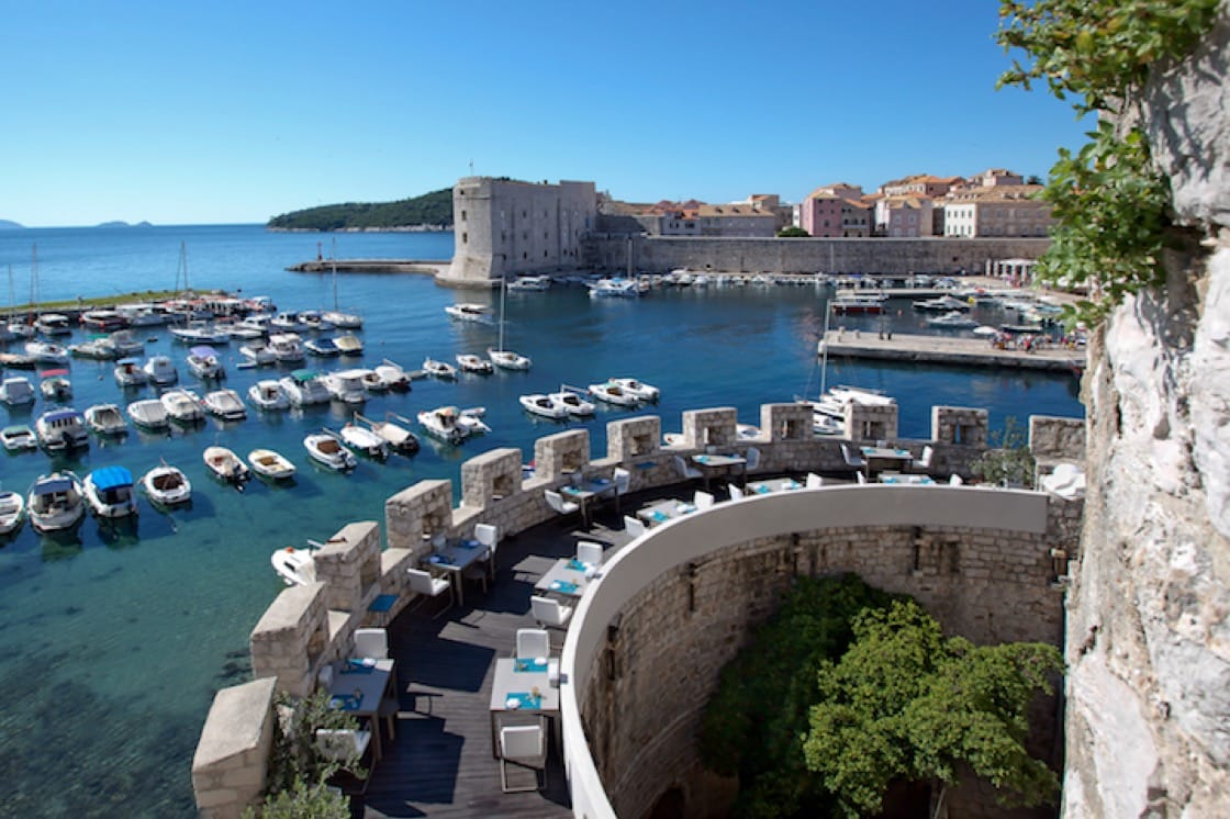 Restaurant 360 is housed in an ancient walled building in Dubrovnik in Croatia. (Credit: Restaurant 360)