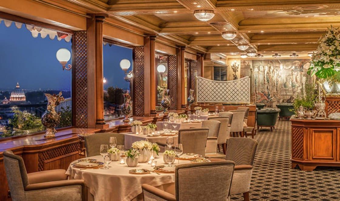 La Pergola is Rome's only restaurant to don three Michelin stars. (Photo courtesy of Cavalieri, A Waldorf Astoria Resort.)