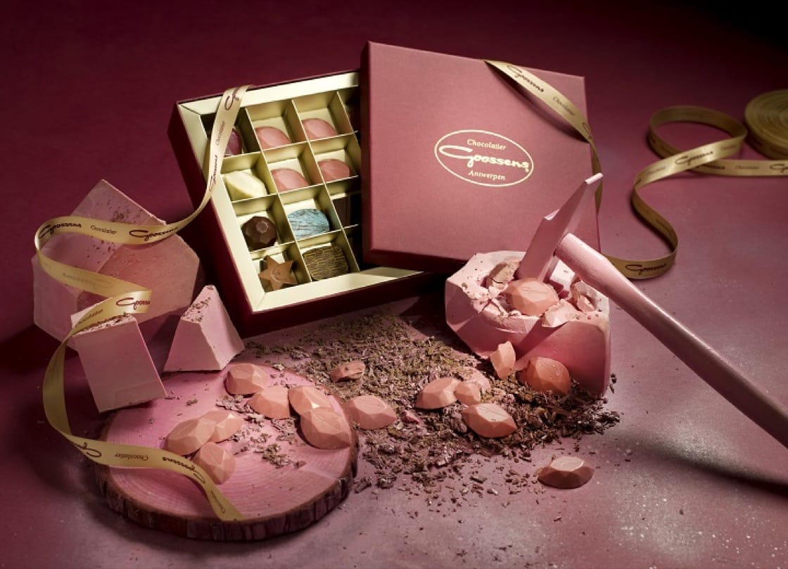 Ruby chocolate sold at Koffie D'Anvers (Credit: Koffie D'Anvers)