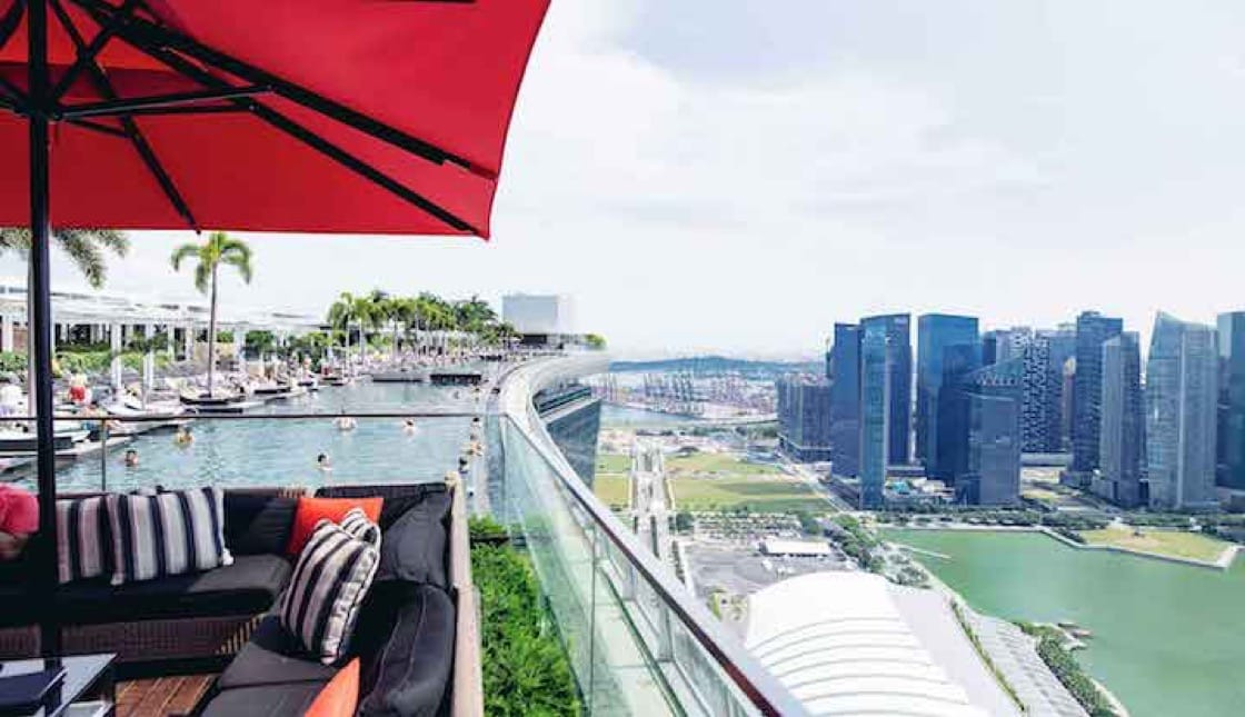 Ce La Vi's SkyBar is perched on the 57th storey of the Marina Bay Sands. (Credit: Marina Bay Sands)