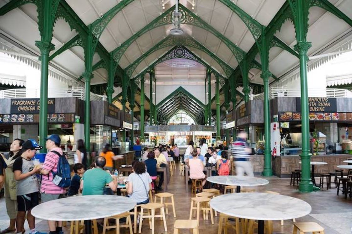 Lau Pa Sat is one of the oldest food centres in Singapore. (Credit: Kenneth Goh)