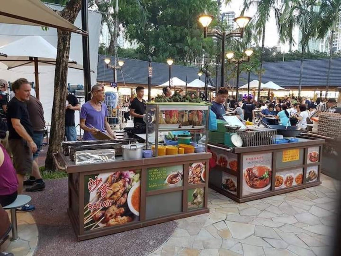 Some of the hawker stalls were created from scratch as some existing stalls looked too modern. (Credit: John See)