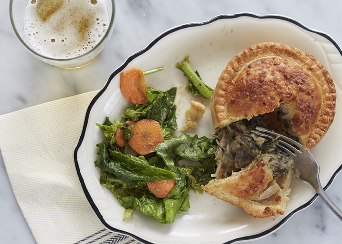 A variety of savory handmade pies are served at Pleasant House Pub. (Photo courtesy of Dan Goldberg/Pleasant House Pub.)