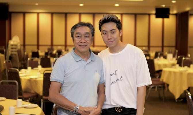 Roland Lim and his son, Justin Lim