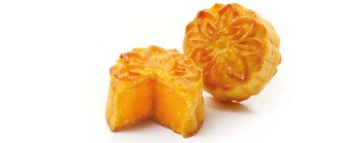 國金軒的奶黃月,個子迷你,兩三口就能吃完。(圖片:國金軒)