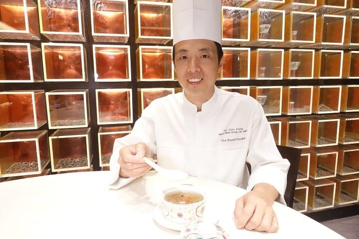 帝苑酒店東來順總廚施超群除了做川菜了得,做糖水也一流。( 圖片:陳志雄)