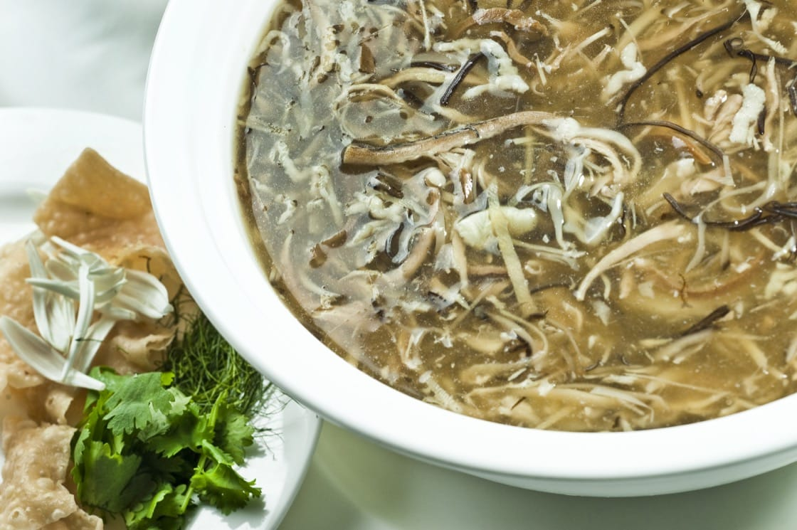 The way to eat the five-snake soup is just as complex as how it is prepared.