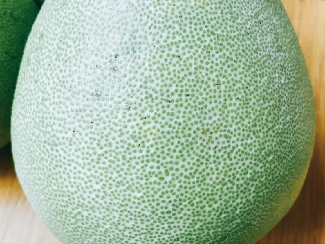 美味的文旦柚,必須要油胞細緻。(圖片:陳靜宜)