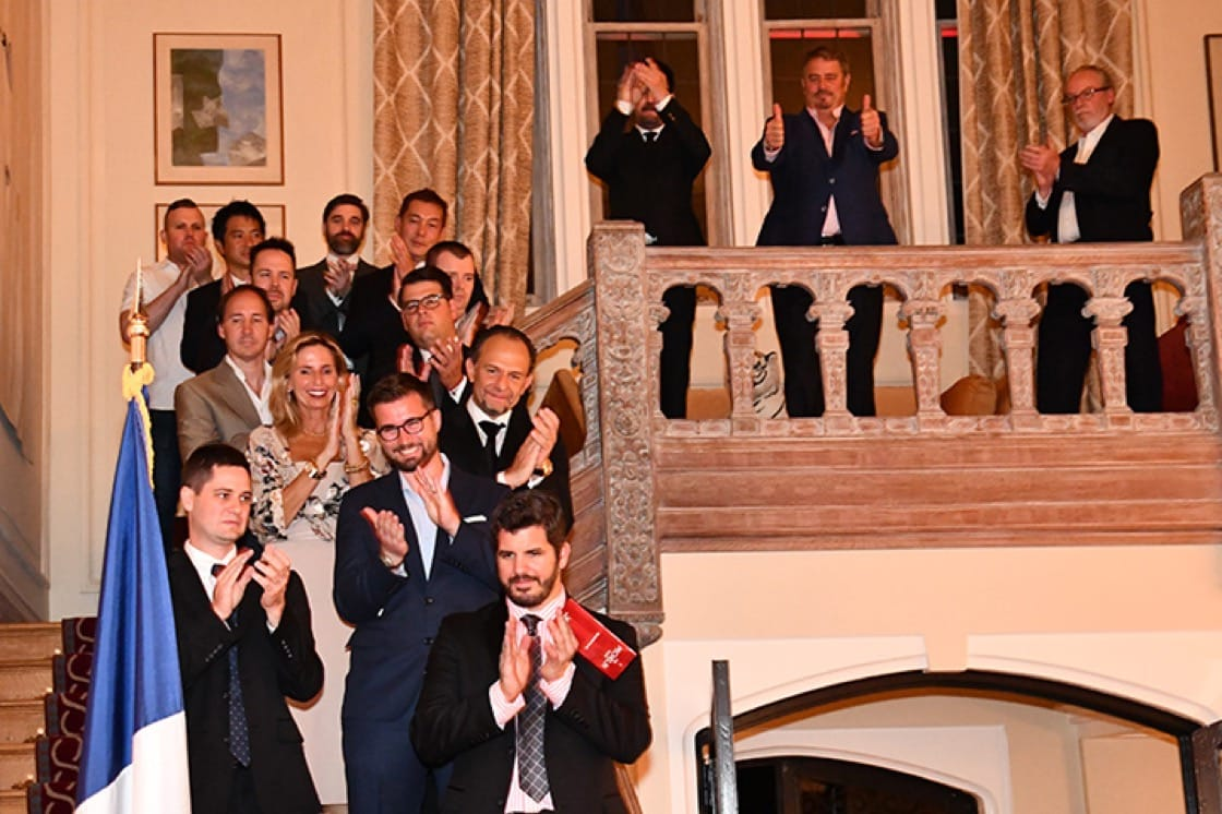 Chefs line the stairs of the ambassador's residence. (Photo courtesy of France in the U.S.)