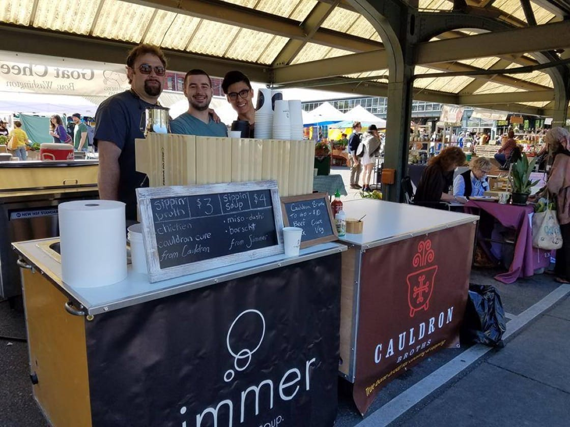 Cauldron Bone Broths and Simmer Soup Company at Bellingham Farmers Market in Washington. (Pic: Cauldron Broths Facebook)