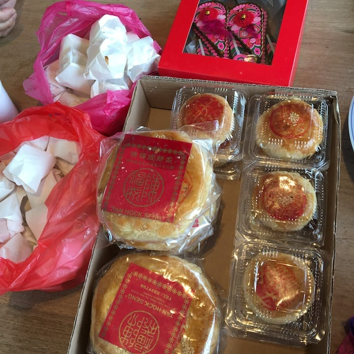 The Mid-Autumn Festival Dice Game comprises a set of 63 mooncakes in varying sizes. (Credit: Kenneth Goh)