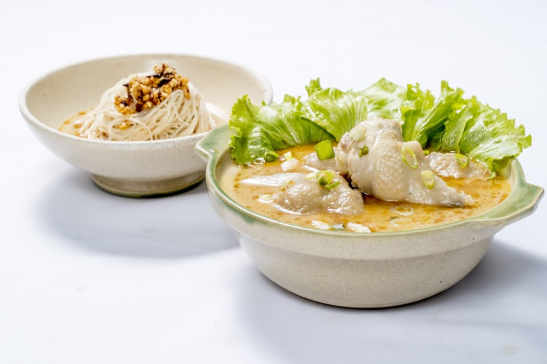 Taiwanese Sesame Chicken Noodle Soup