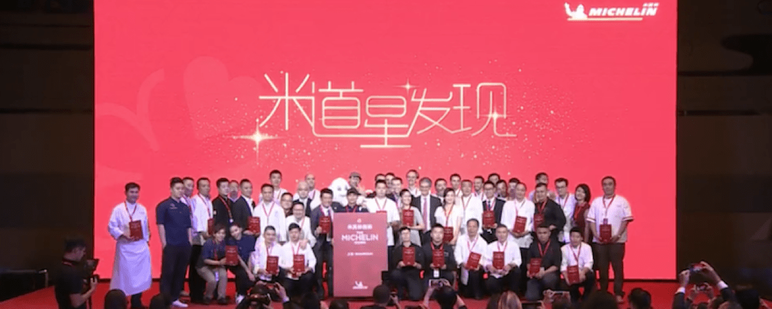 Representatives from restaurants with stars in the Michelin Guide Shanghai 2019.