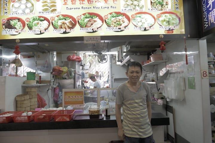 Li Huai Zhi at his new stall location at 46 Holland Drive. (Pic: MICHELIN Guide Digital)