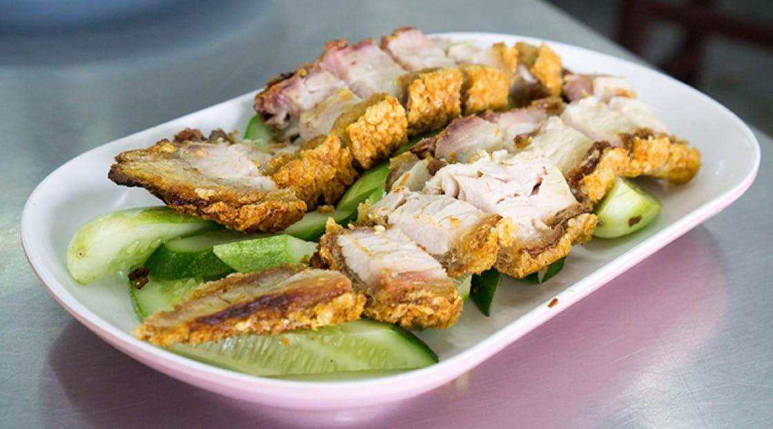 Thani's crispy pork - a bit hit with locals in Ari neighbourhood.