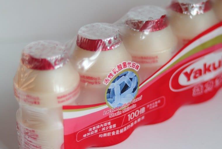 活性乳酸菌代田株飲品是日本人發現。(攝影:陳佳男)