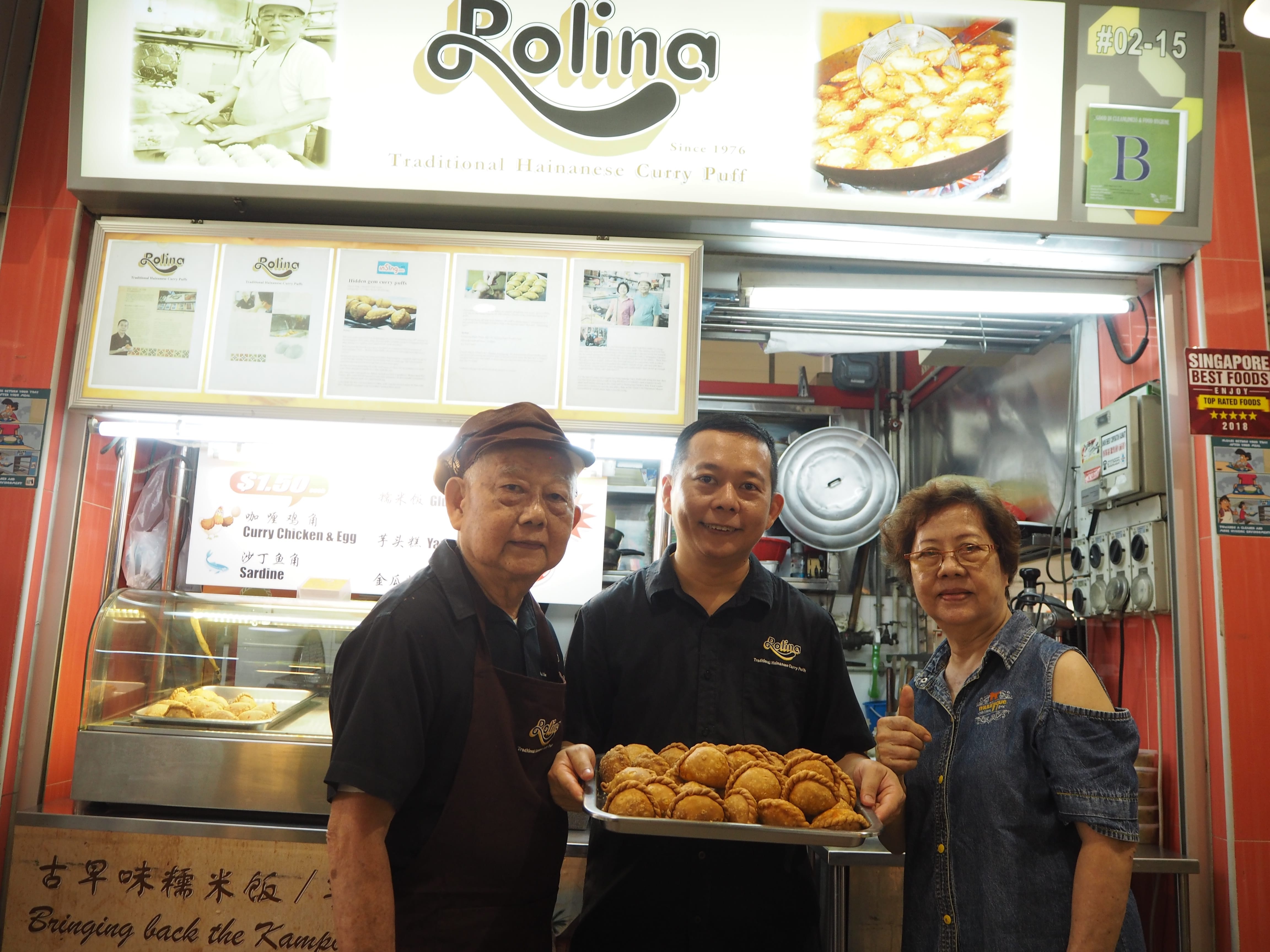 The Tham family has been running Rolina Traditional Hainanese Curry Puff for more than 50 years. (Photo: Kenneth Goh)