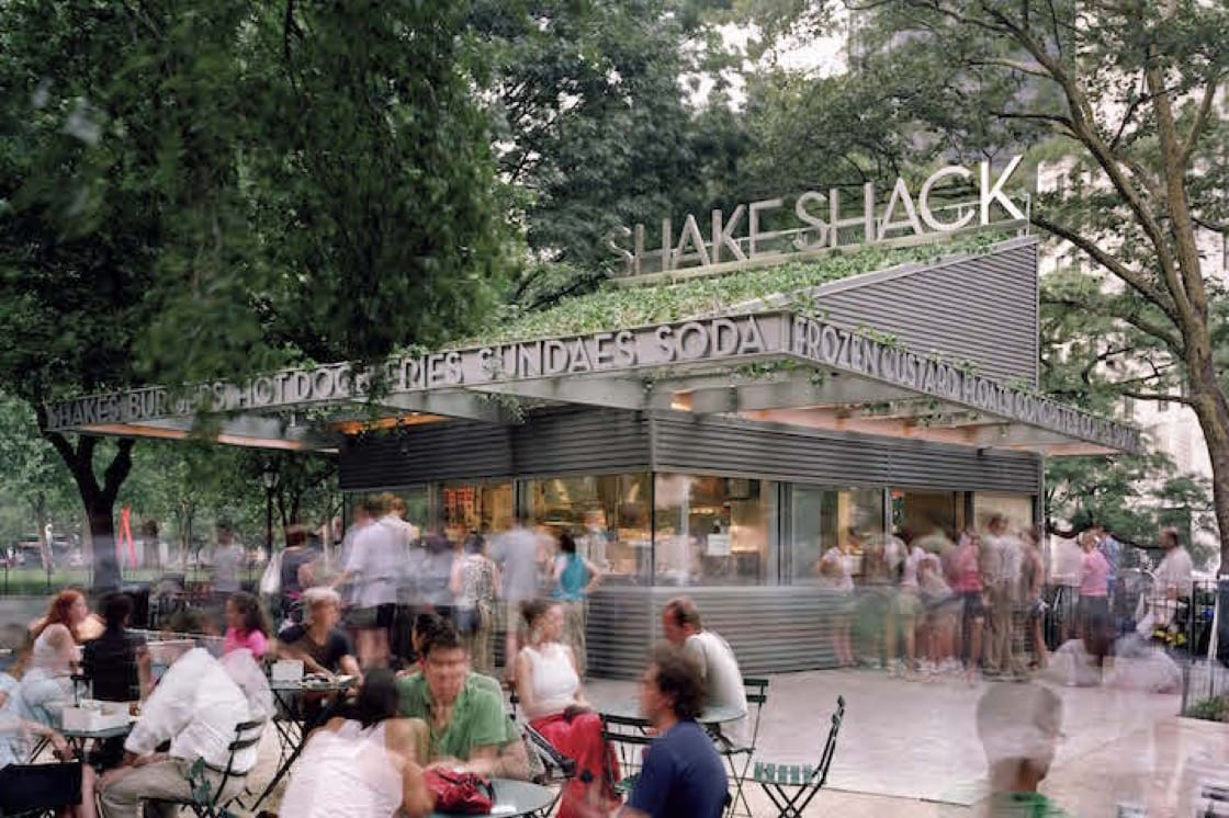 The original burger stand in Madison Square Park (Pic: Shake Shack)