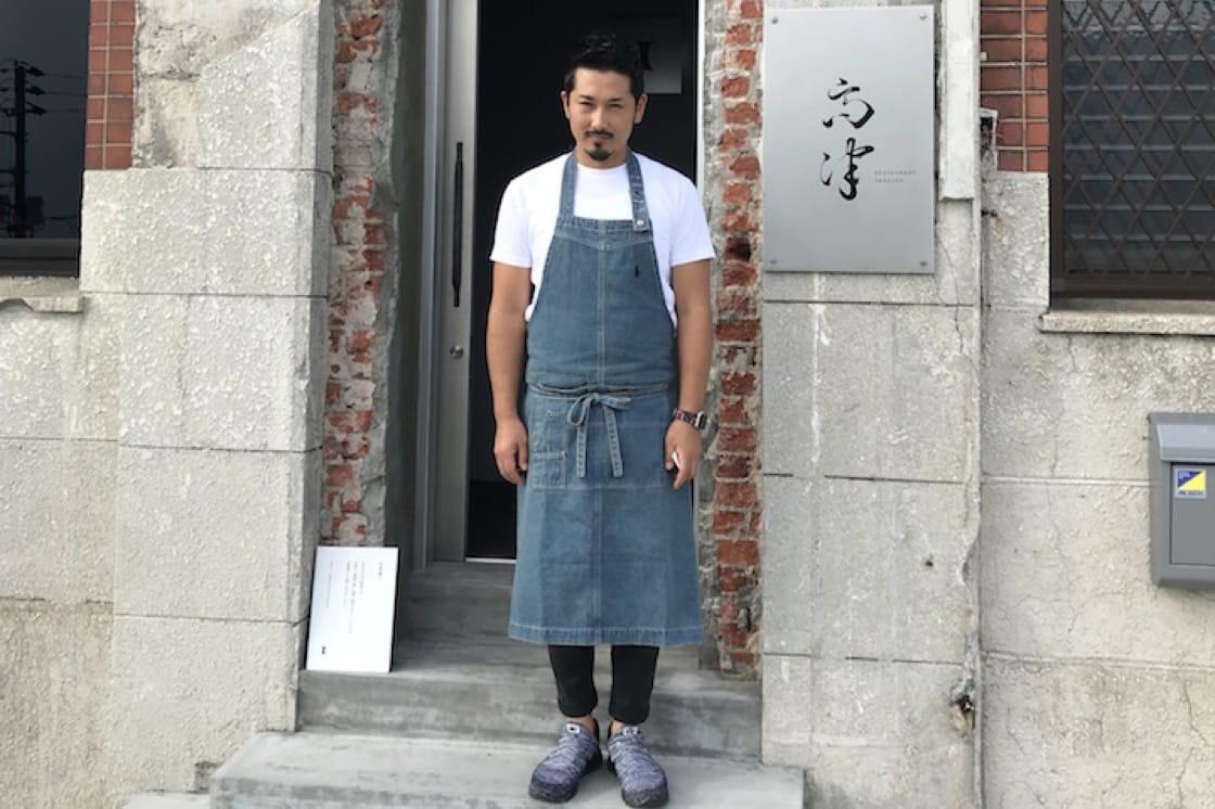 Chef Kenichi Takatsu outside his eponymous restaurant in Shimonoseki (Pic: MICHELIN Guide Digital)