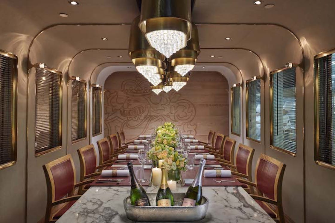 The Krug Room at the Mandarin Oriental, Hong Kong. (Photo credit: Mandarin Oriental, Hong Kong)