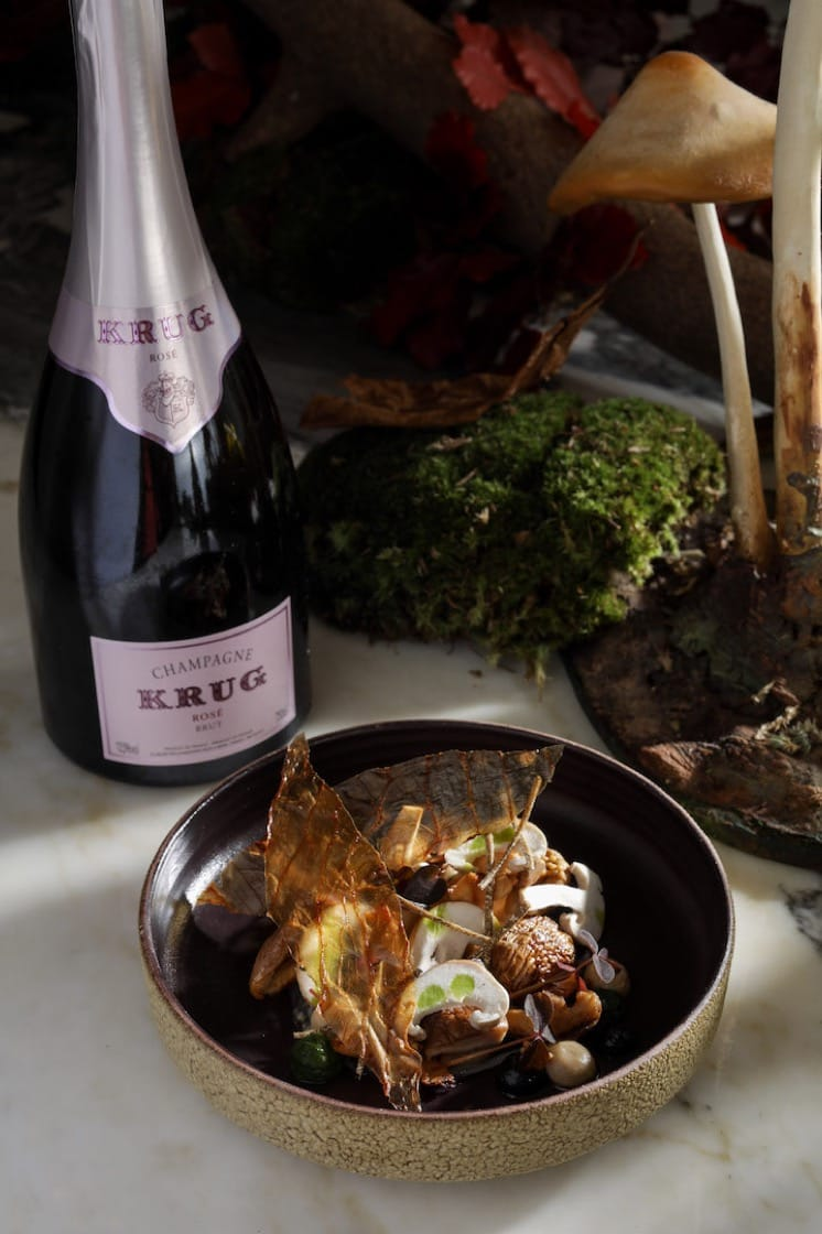 "The ""Shiitake"" course from The Krug Room's latest autumn menu. (Photo credit: Mandarin Oriental, Hong Kong)"