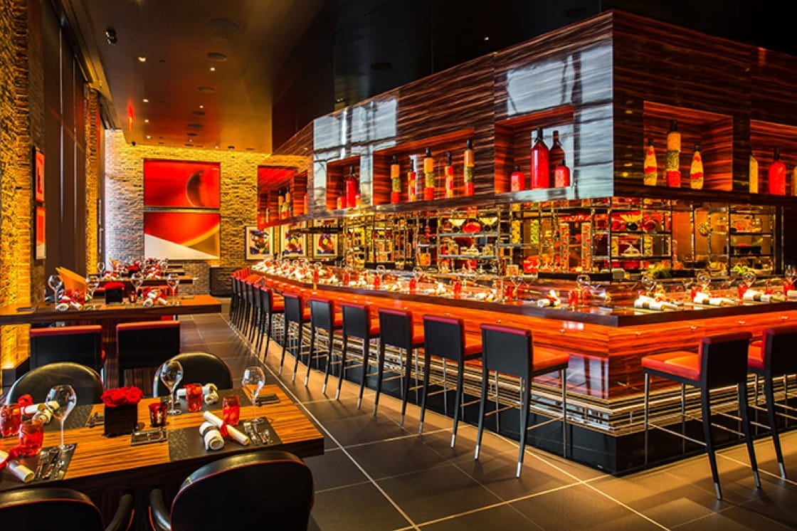 L'Atelier de Joël Robuchon opened in Manhattan's Meatpacking District last year. (Photo by Evan Sung.)