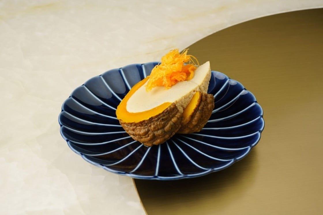蒸南瓜吉士醬甜品,造型優美。(圖片:Aaharn)