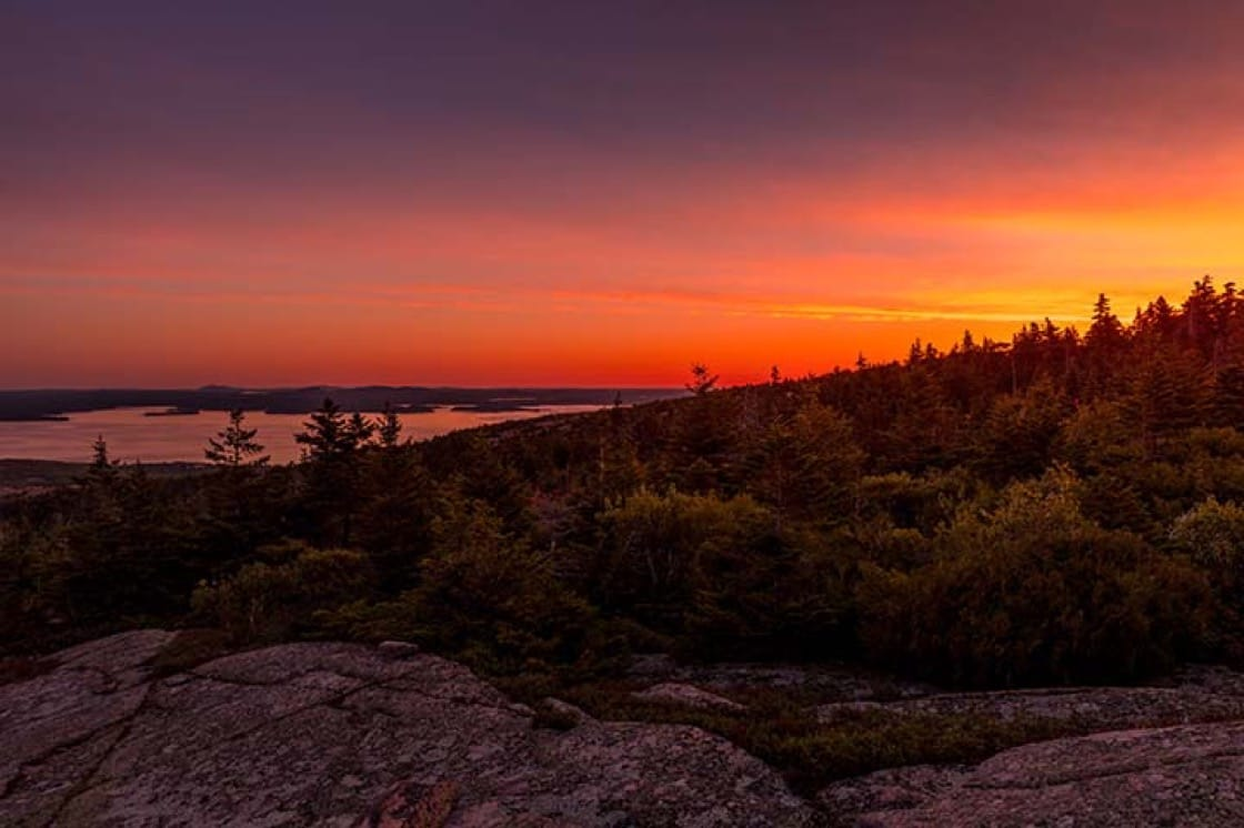 Sunrise at Acadia National Park.