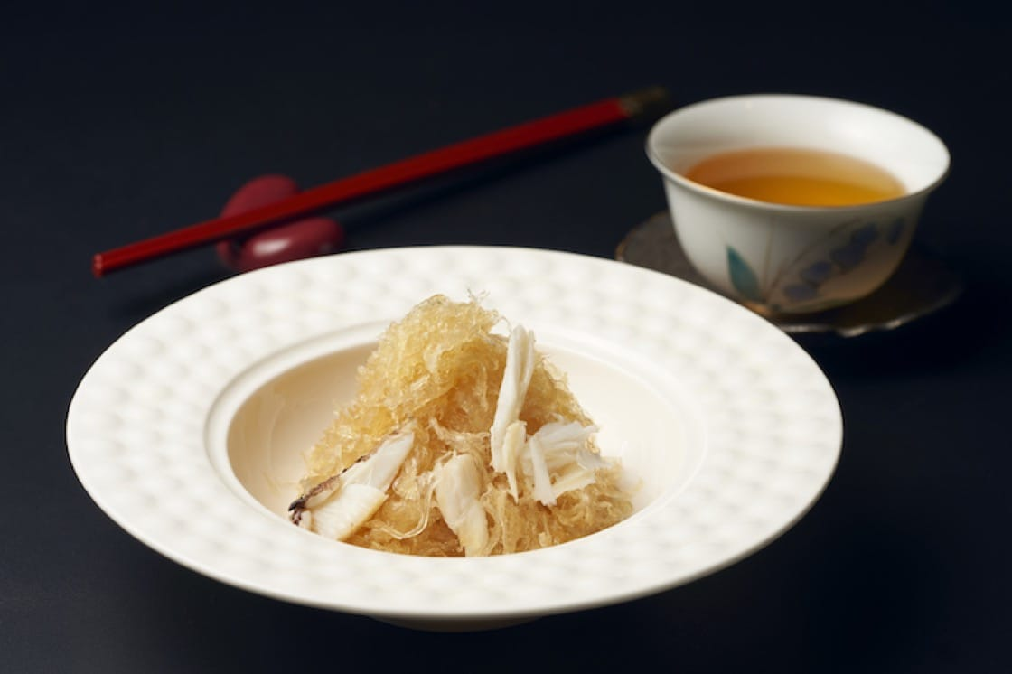 The stir-fried strands of birds' nest retains its crunch despite being tossed in rich superior stock. (Credit: Blossom)
