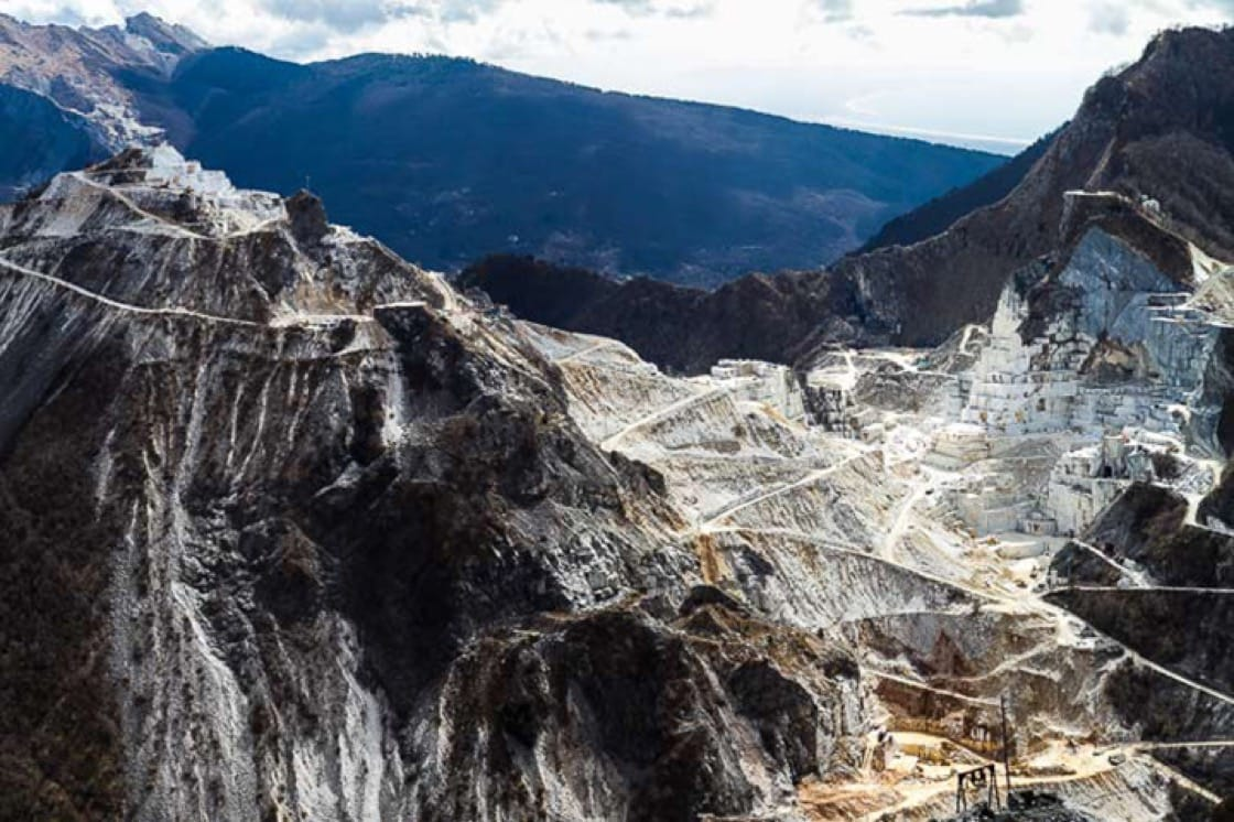 While visiting the area, Shaya recommends touring the enormous quarries of Carrara marble. (Photo courtesy of Wandering Italy.)