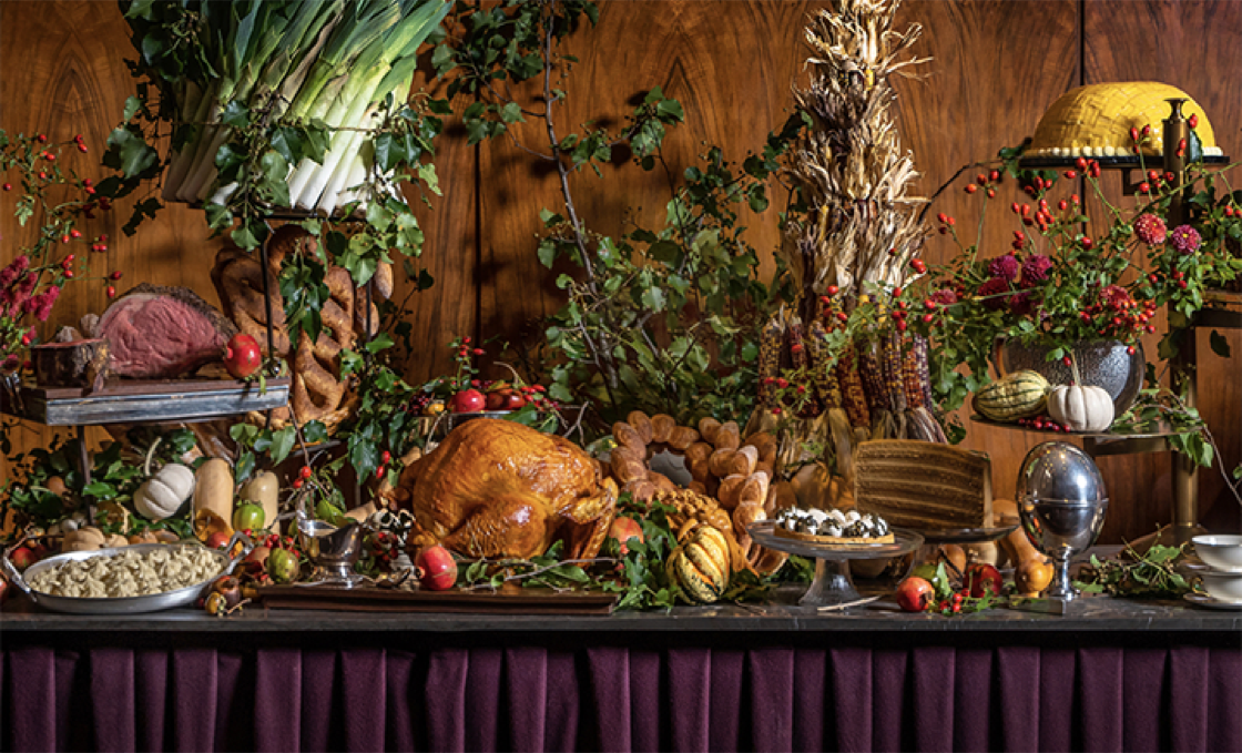 A prix-fixe menu of pumpkin soup, goose terrine and roasted turkey with bourbon gravy flambé will be served at The Grill. (Photo courtesy of The Grill.)