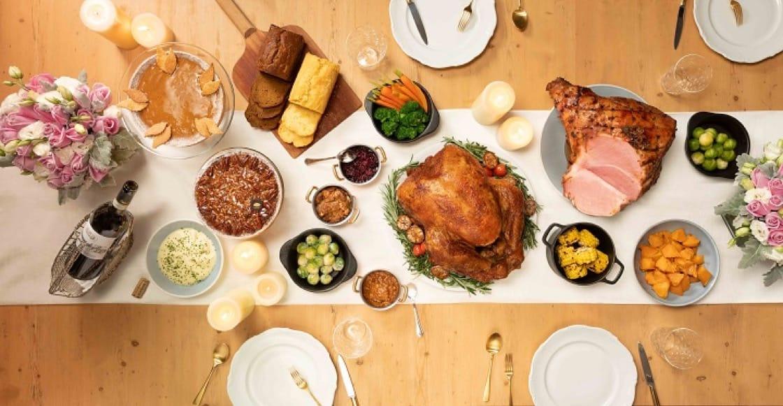 五星級感恩節盛宴,以禮盒形式送上門。(圖片:香港文華東方酒店)