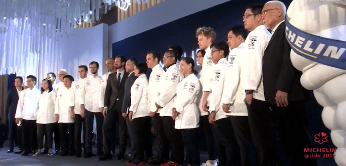 Chefs from dining establishments that received stars in the MICHELIN Guide Bangkok, Phuket and Phang-nga 2019 selection.