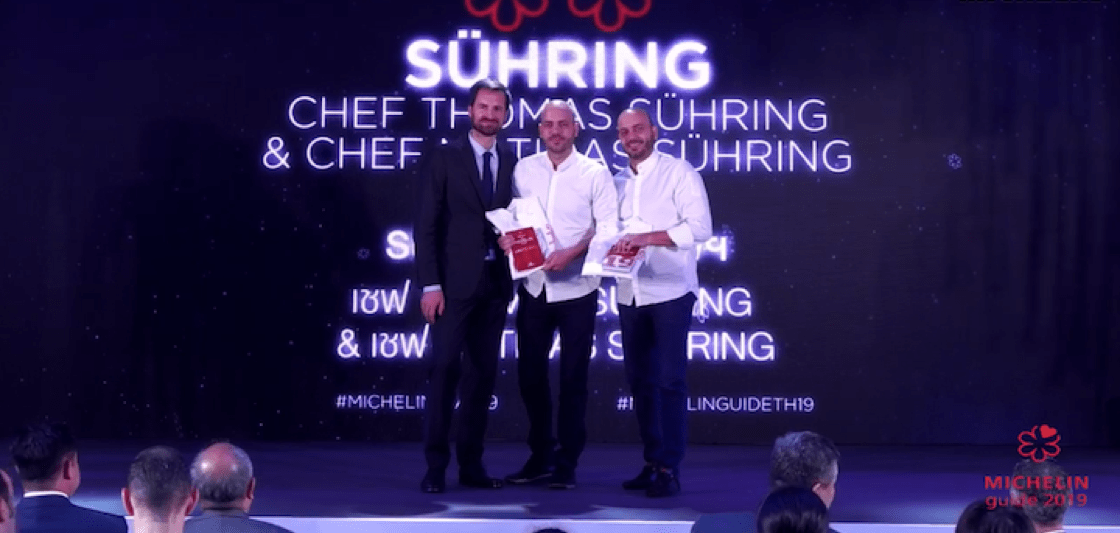 Mathias and Thomas Sühring helm Sühring, which is lauded with two Michelin stars this year.
