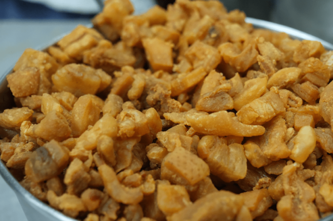 Deep-fried pork lard is an essential ingredient of Ng's char kway teow (Pic: MICHELIN Guide Digital)