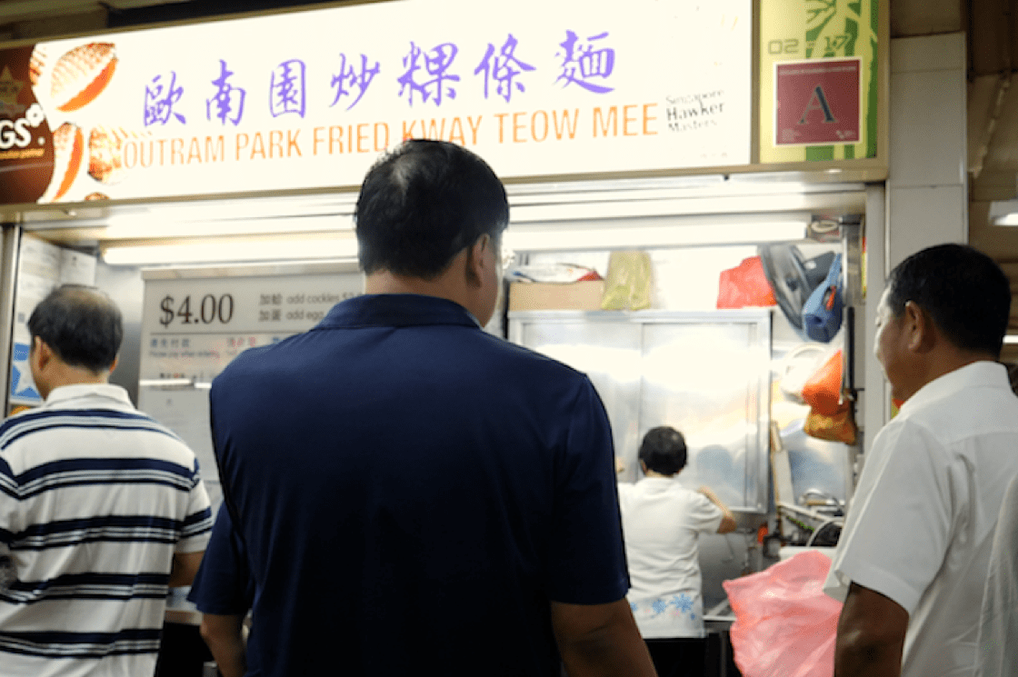 The queue forms early at Outram Park Fried Kway Teow (Pic: MICHELIN Guide Digital)