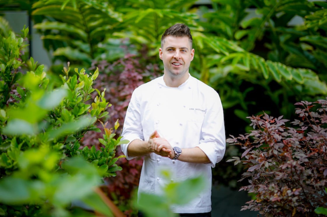 Chef Kirk Westaway who hails from Devon in the United Kingdom was a vegetarian till he was in his early teens. (Credit: JAAN)