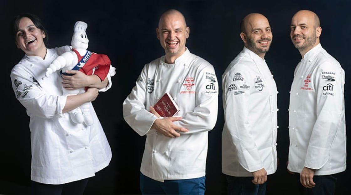 左起:Garima Arora (Gaa)、Jimmy Ophorst (PRU)與Sühring兄弟(Restaurant Sühring)。