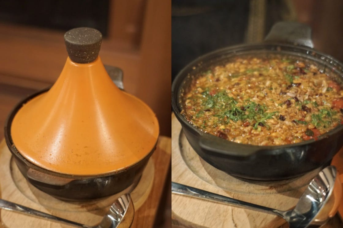 Chef Noom's Tom Yam Plachon Bo-Larn is cooked and served in a clay tagine (Pic: MICHELIN Guide Digital)