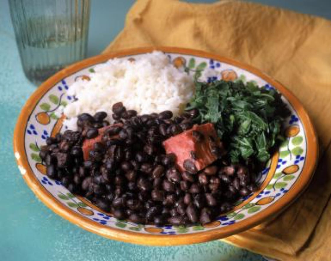 Black beans, or feijoa, is a key ingredient in one of Brazil's national dishes, feijoada.