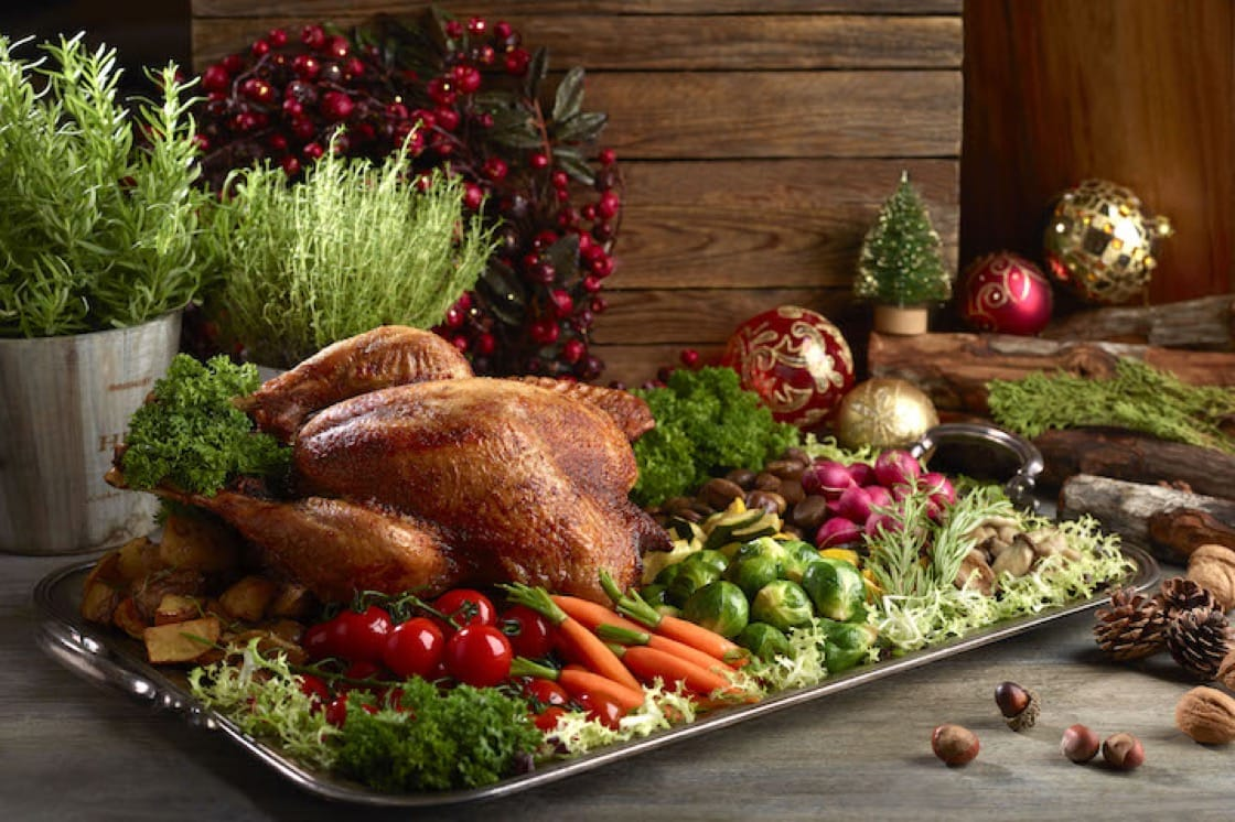 Holiday Tom Turkey with Chestnut Stuffing, Thyme Sauce and Cranberry Relish. (Pic: Holiday Inn Singapore Orchard City Centre)
