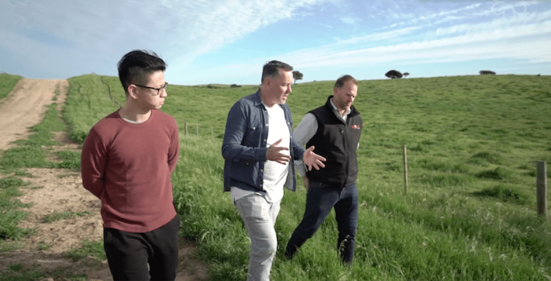 Chef Christopher Millar (middle) interacts with Scott de Bruin (extreme right), who runs Mayura Station, a full-blood wagyu farm in South Australia.