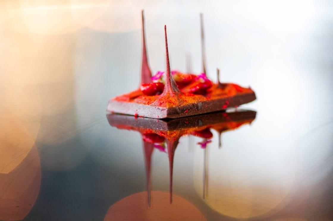 A gravity-defying creation by master chocolatier Masatada Hosokawa.
