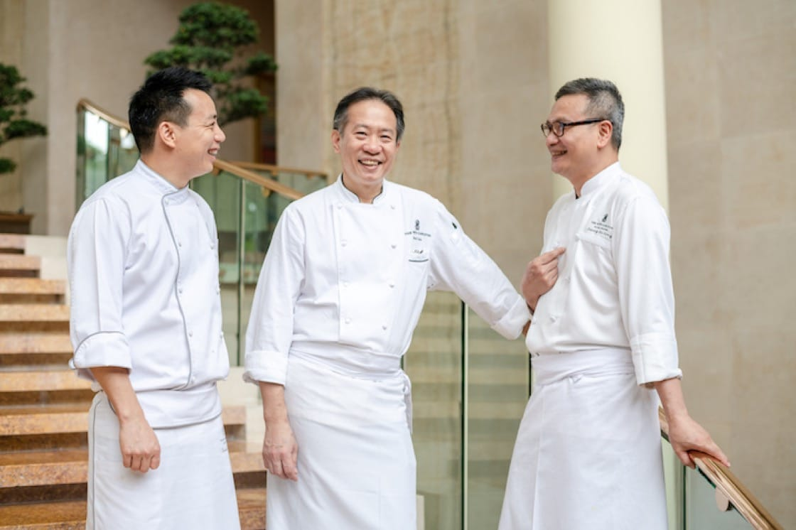 Paul Lau (Centre) with Cheung Siu Kong (Right) and Gordon Guo (Left)
