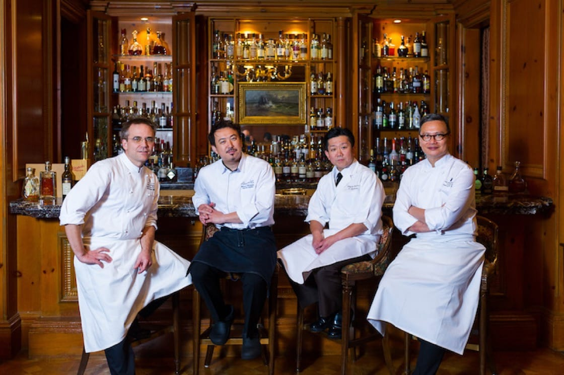 Chef Cheung (far right) with his colleagues in Osaka.