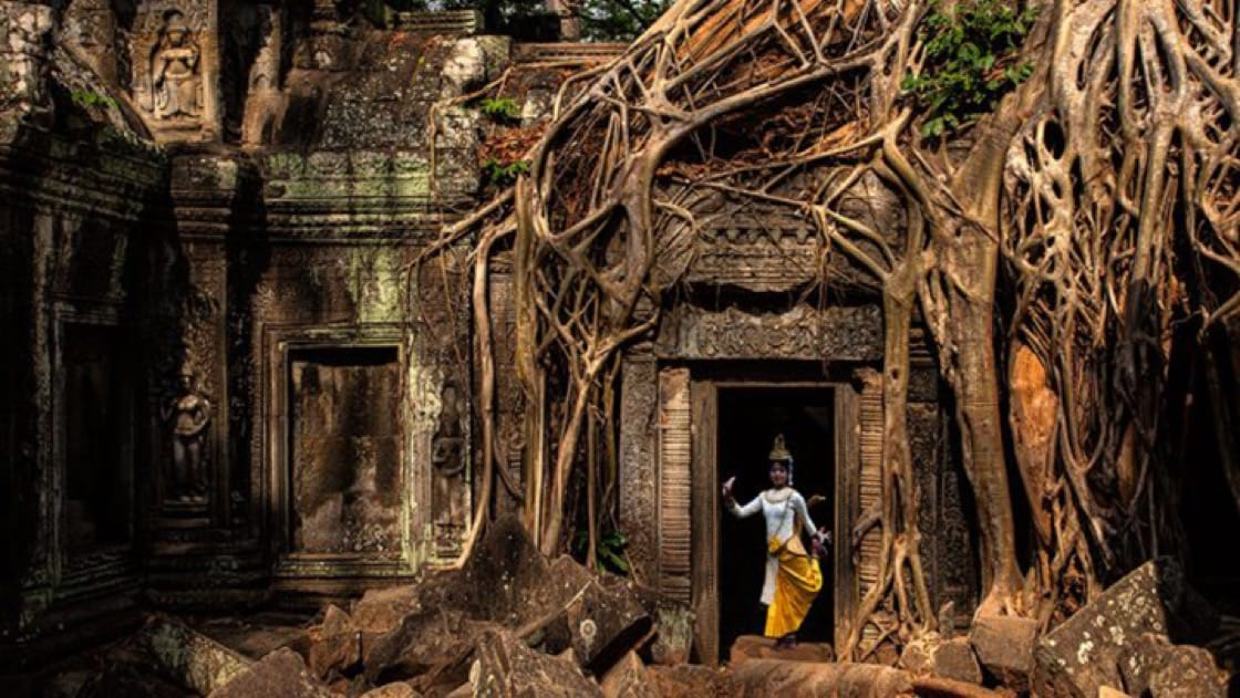 Ta Phrom is a temple overgrown with giant ancient trees. (Photo courtesy of Sasha Isachenko.)